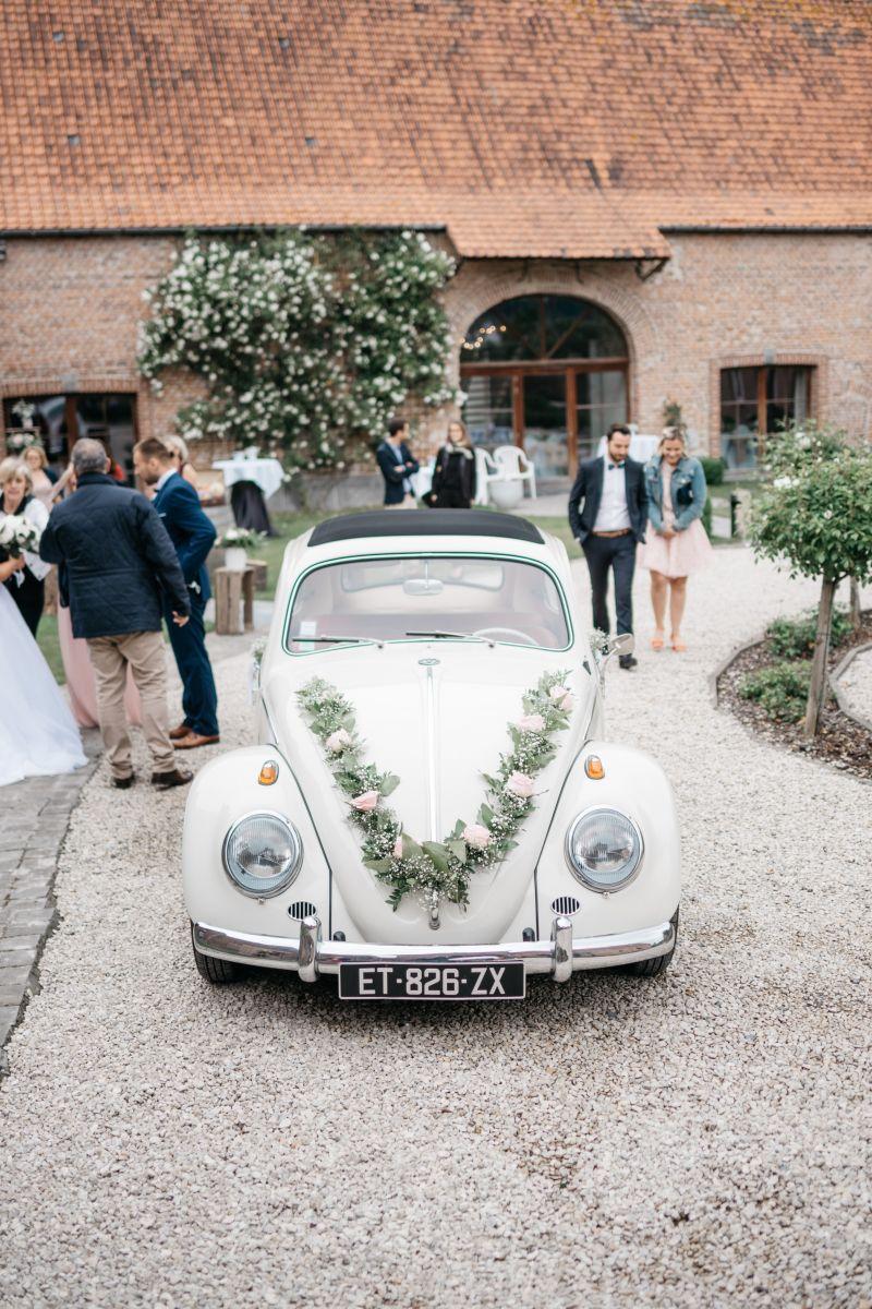 photographe mariage lille nord jeremy hourquin volkswagen voiture cortege cense source tournai.jpg